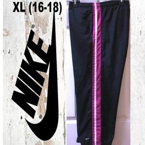Nike Track Pants Pink/White Stripe